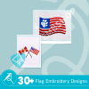 Flag Embroidery Collection