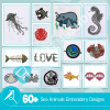 Sea Animal Embroidery Collection