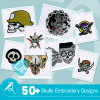 Skull Embroidery Collection