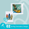 Surfing Embroidery Bundle
