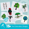 Tree Embroidery Bundle