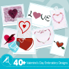 Valentine's Day Embroidery Bundle